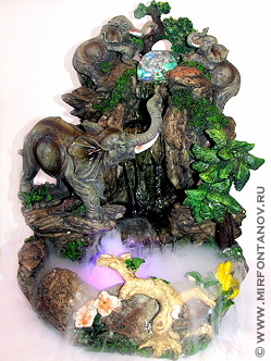 Декоративный фонтан джунгли