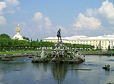 Верхний парк - фонтан Нептун