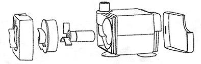 Схема сборки мотора (помпы) фонтана